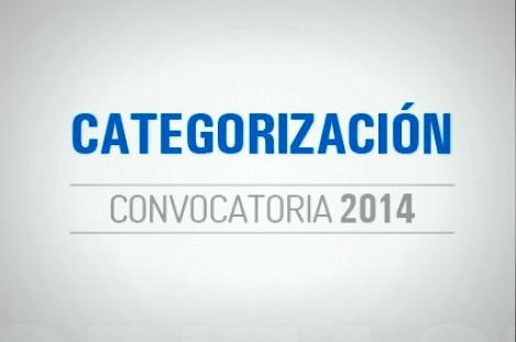 CATEGORIZACIÓN 2014. INFORME DE AVANCE