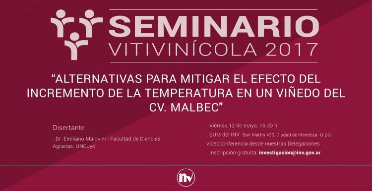 El INV realizará un nuevo Seminario Vitivinícola
