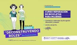 REPARACIÓN DE BICICLETA PARA MUJERES.