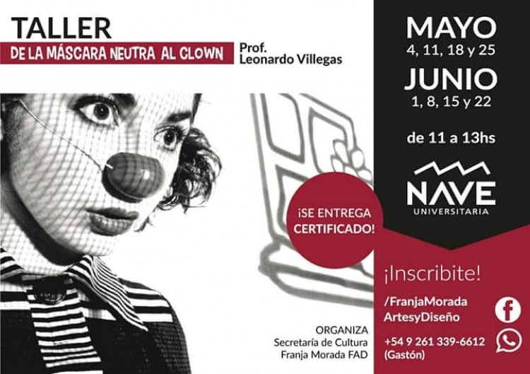 Taller: «De la máscara neutra al clown»