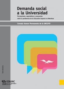 Libro de Demanda Social a la Universidad Nacional de Cuyo