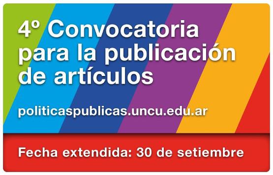 4ta Convocatoria para la publicación de artículos en la PiPP