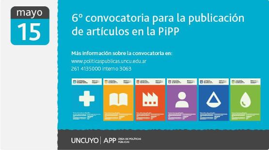 6ta Convocatoria para la publicación de artículos en la PiPP