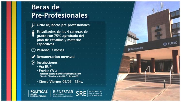 Convocatoria de Becas Pre Profesionales para el Área de Políticas Públicas