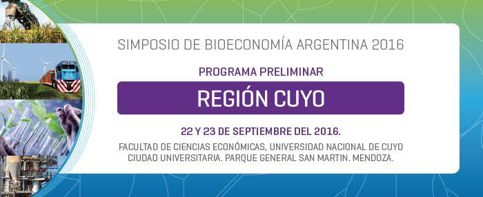 Invitación al Primer Simposio de Bioeconomía Argentina Región Cuyo