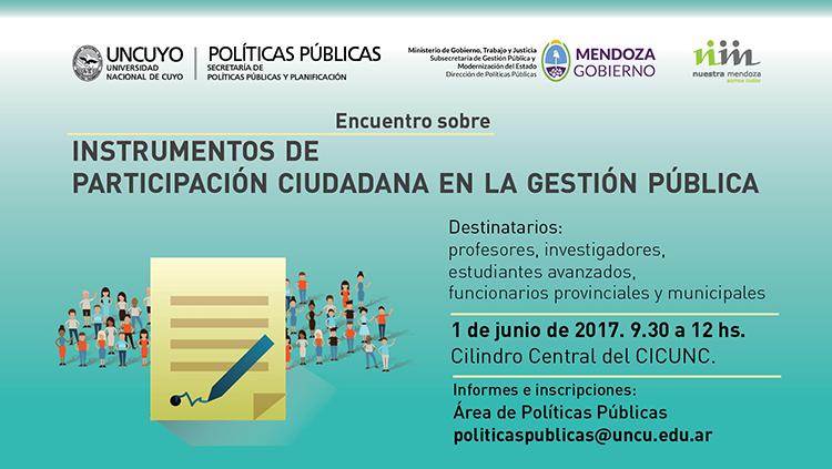 Especialistas trabajarán sobre participación ciudadana en la gestión pública