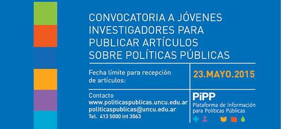 Convocatoria a jóvenes investigadores para publicar artículos sobre políticas públicas