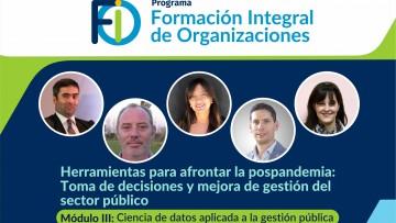 Ciencia de datos aplicada a políticas públicas, tema de una nueva charla para organizaciones