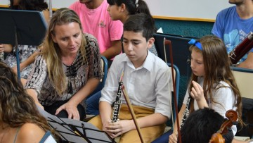 Orquesta juvenil de Alvear se acercó al mundo universitario de la música