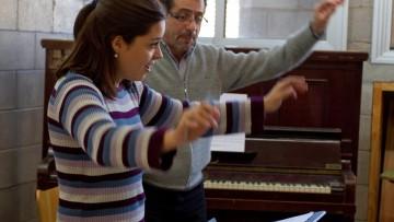 La creación musical enseñan en un taller