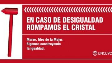 """""""Rompamos el cristal"""": la UNCUYO lanzó campaña contra la desigualdad laboral"""