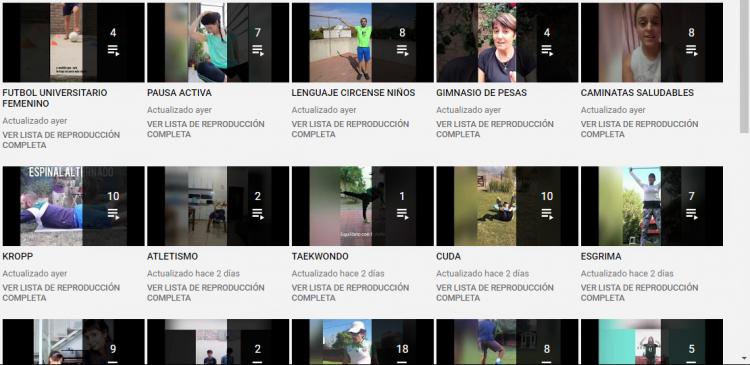 Más de 140 videos para mantenerse activo y saludable sin salir de casa