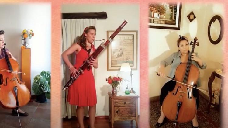 """Mujeres de la Orquesta Sinfónica crearon una emotiva versión del bolero """"Contigo en la distancia"""""""