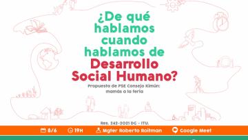Hablarán de Desarrollo Social Humano y el rol de la Universidad en ese esquema