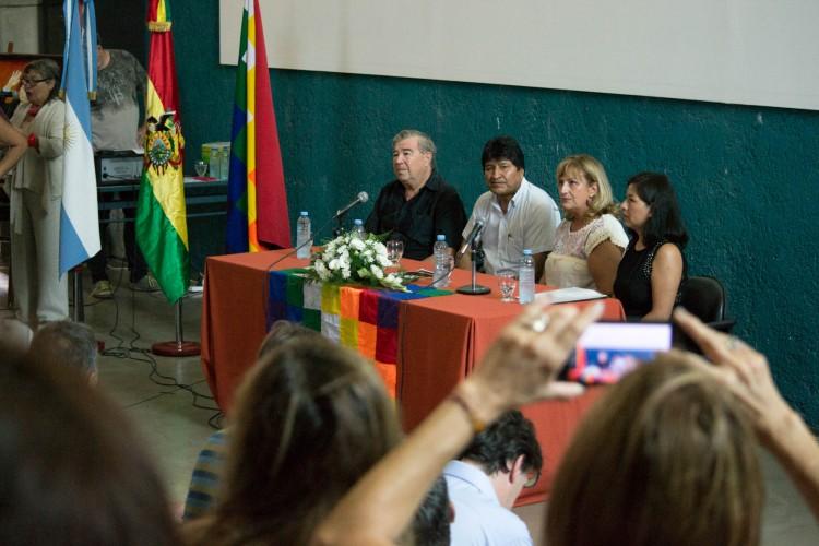 Evo Morales visitó la UNCUYO