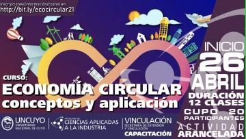 Economía circular: abordarán conceptos y aplicación en un curso-taller