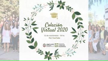 Agrarias celebrará el primer acto de colación virtual de la UNCUYO