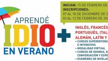 Comenzá el 2021 aprendiendo idiomas en la UNCUYO