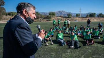 El Deporte social, protagonista de la Escuela de fútbol para barrios del oeste