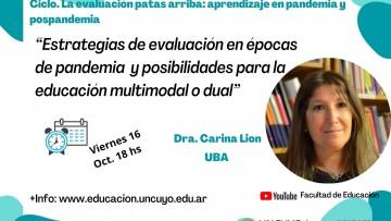 Experta de la UBA disertará sobre estrategias de evaluación y educación dual