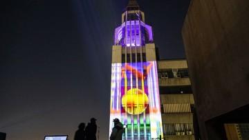Se estrenó en Mendoza un mapping sobre el edificio Gómez
