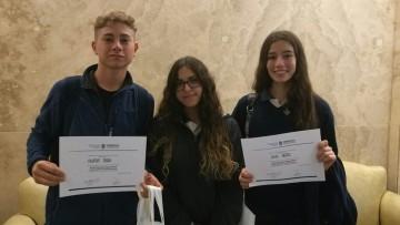Premiaron a estudiantes del Martín Zapata en certamen de redes sociales y derechos humanos