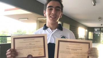 Premiaron a estudiante del Martín Zapata en Córdoba