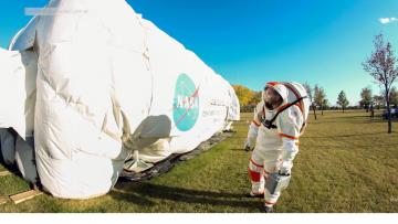 Estudiante de la UNCUYO probará los trajes de futuros astronautas