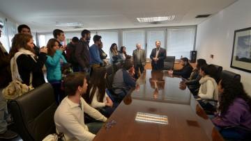 Pizzi recibió a las autoridades electas de la FUC
