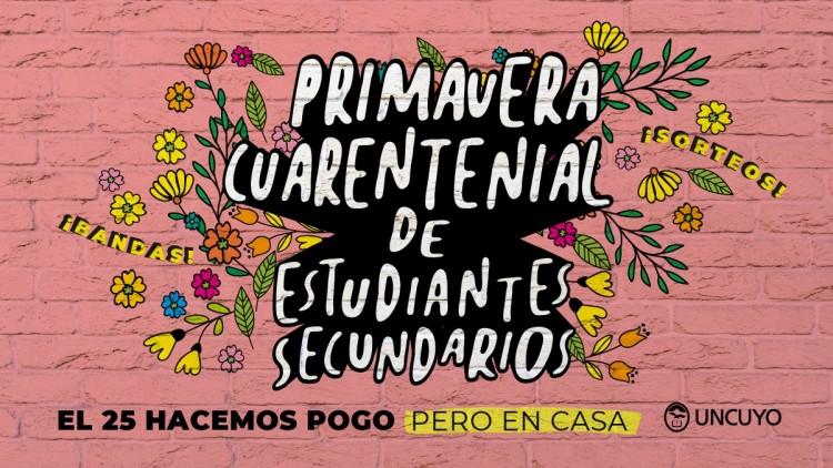 Primavera Cuarentenial: los estudiantes de secundarios celebran su día