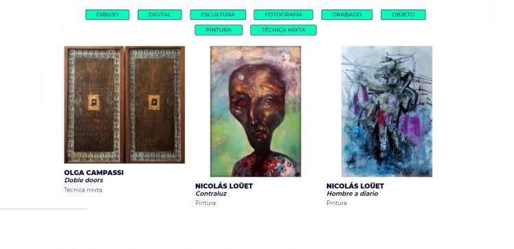 Inauguraron una plataforma con obras de artistas visuales de Mendoza