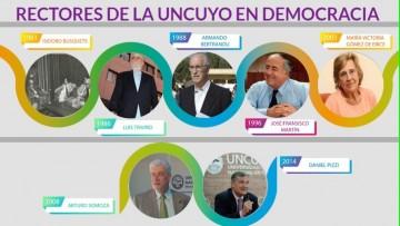 Rectores de la UNCUYO en Democracia: un micrositio de Unidiversidad da cuenta de sus semblanzas y gestiones