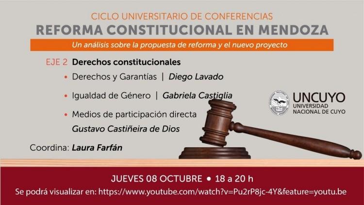Reforma constitucional: continúa el análisis de especialistas de la UNCUYO