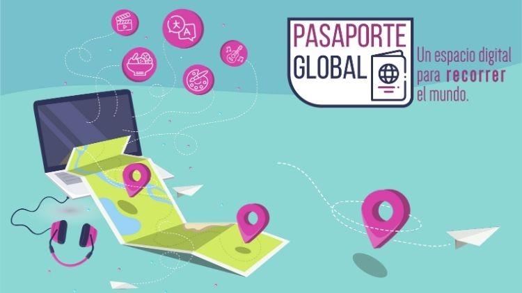 Pasaporte en mano que empieza el viaje por Europa con charlas y talleres virtuales