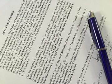 Acta de Constitución de la Red Nacional de Posgrados en Humanidades y Educación