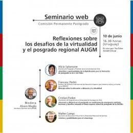 Seminario web: Reflexiones sobre los desafíos de la virtualidad y el posgrado regional AUGM