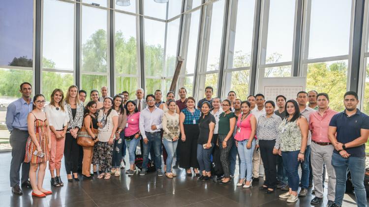 An Ecuadorian Delegation starts a PhD. at the University