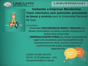 El día 9 de septiembre se realizó la charla para proveedores y contratistas de la Universidad